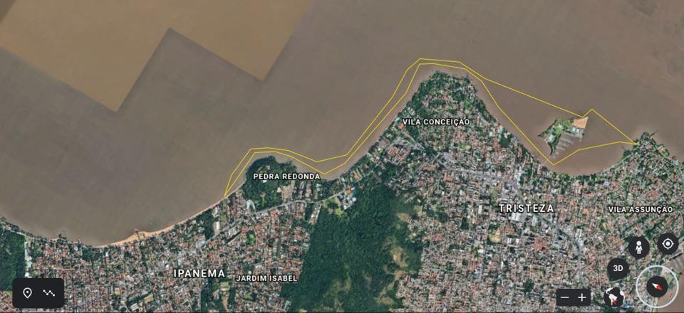 Trajeto de Ipanema
